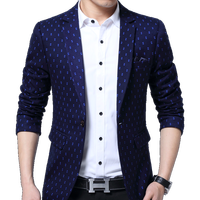 Brand Blazer Men Fashion Casual Slim Blazers 2017 Spring New Arrival Fashion Party Single Breasted Men