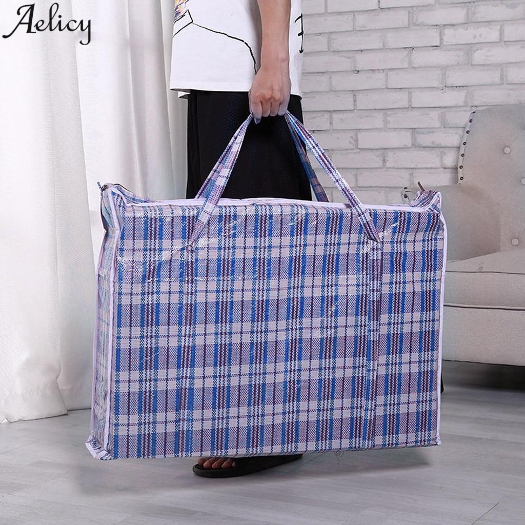 Aelicy Organizer Duffle-Bag Moving-Storage Folding Travel-Bags Large-Capacity Nylon Waterproof