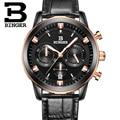 2017 hombres de relojes de lujo BINGER cuarzo de la marca completa de acero inoxidable Relojes de Suiza Cronógrafo Diver glowwatch B9011-8