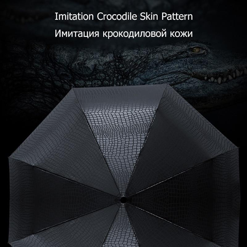 Nachahmung Krokodilhaut Regenschirm Regen Frauen 3Folding Winddicht - Haushaltswaren - Foto 6