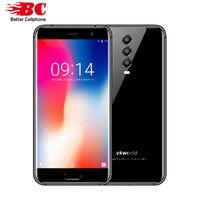 Глобальный Vkworld K1 Dual SIM FDD 4040 мАч Android 8,1 mtk6750t восемь ядер 4 ГБ + 64 ГБ 3 назад Камера 5,2 дюймов оты смартфон с отпечатками пальцев