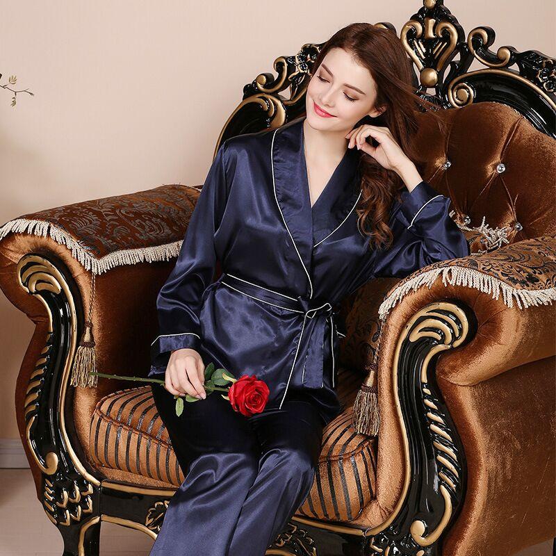 Kimono Satin Silk Pijama Mujer Pajamas Women Pyjama Femme Sleepwear Women Pajamas Pijama Feminino Pajama Women in Pajama Sets from Underwear Sleepwears