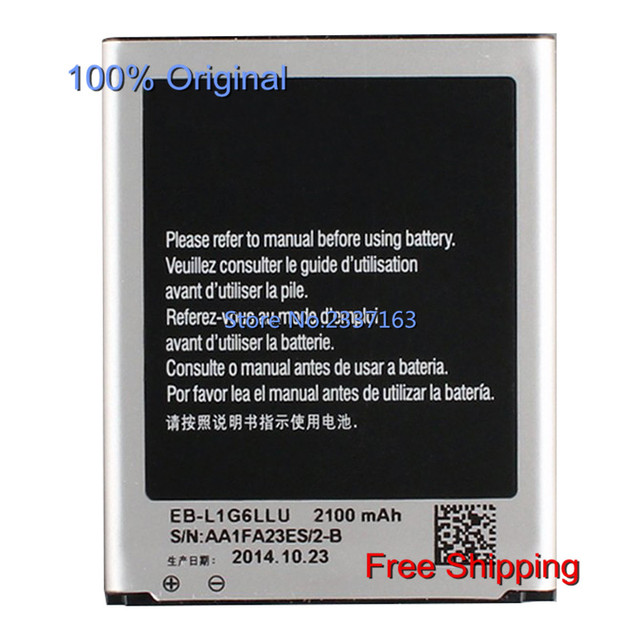 IECWANX 100% new  Phone Battery EB-L1G6LLU (3.8V 7.98WH 2100MAH) for Samsung GALAXY S3 I9300 I9308 L710 I535  GT-I9300