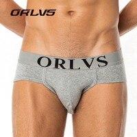 ORLVS Brand 6PC/LOT Male Panties Breathable Briefs Cotton Men Underwear U convex pouch Sexy Underpants 7 Color Homewear Briefs
