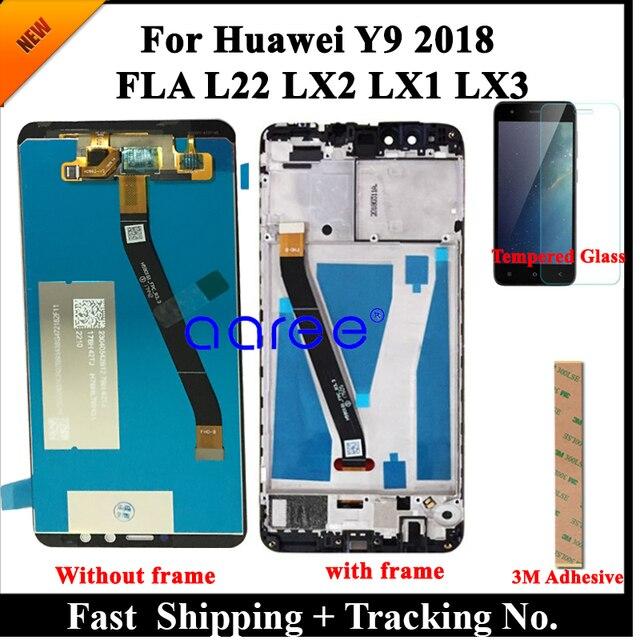 נבדק מקורי LCD תצוגה עבור Huawei Y9 2018 LCD עבור Huawei Y9 2018 תצוגת LCD מסך מגע Digitizer עצרת Y9 2018 LCD