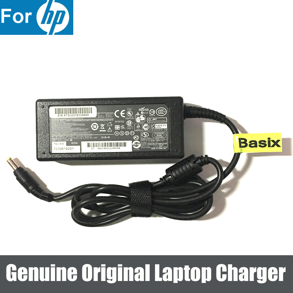 US $13 78 13% OFF Genuine Original 65W Power Supply AC Adapter Charger for  HP Pavilion DV9100 DV9400 DV9500 DV9700-in Laptop Adapter from Computer &