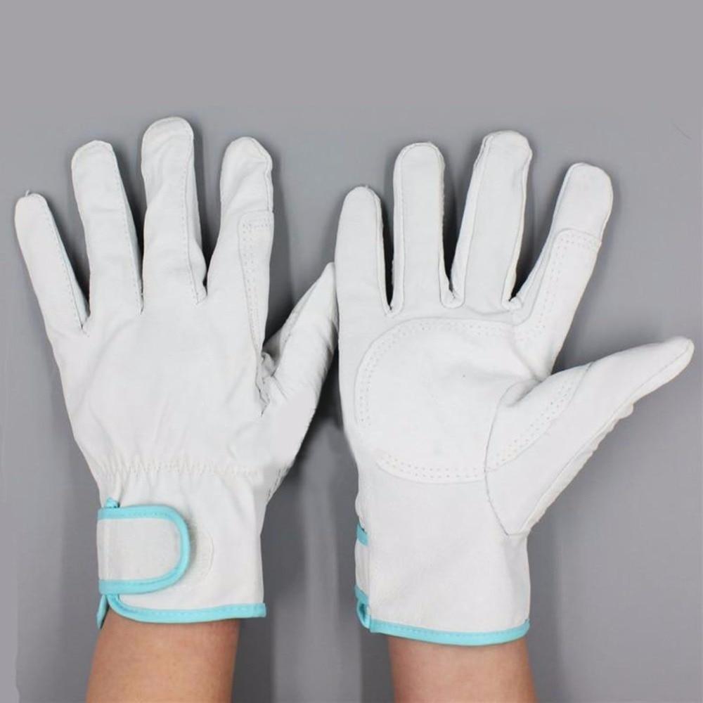 Work Gloves Sheepskin Leather Men Working Welding Gloves Safety Protective Garden Sports MOTO Wear-resisting Gloves