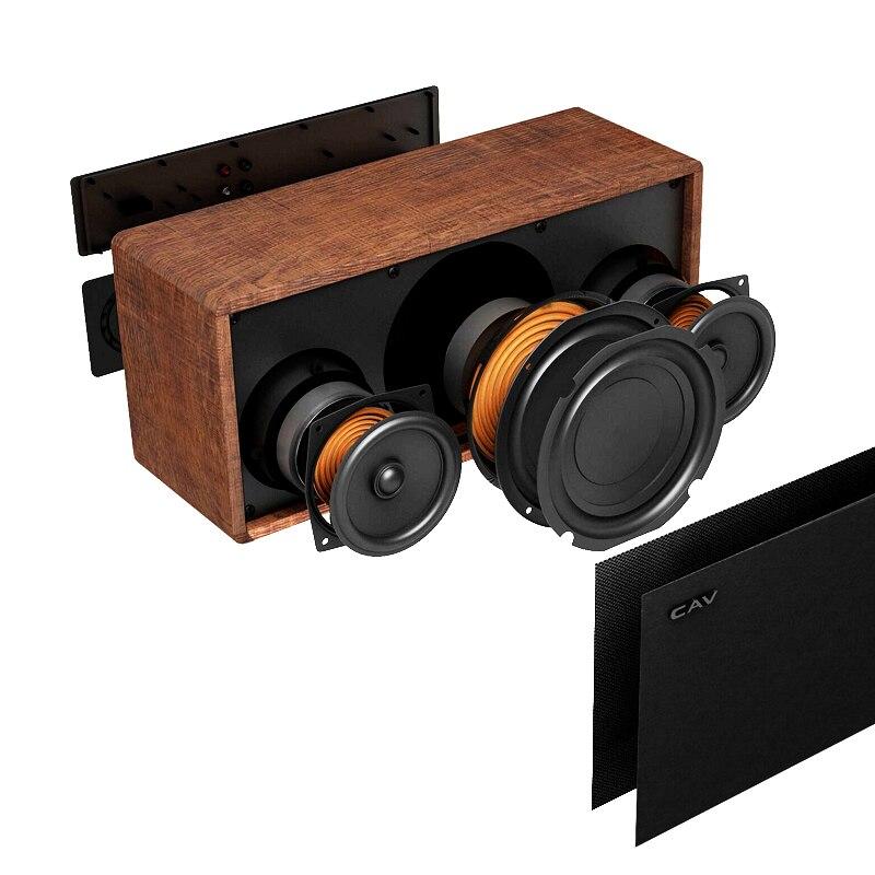 """Электрические плиты CAV AT60 Bluetooth Динамик 2,1 канала деревянные AUX оптический коаксиальный USB Вход портативные колонки глубокие басы 5,25 """"НЧ-динамик 4 режимов эквалайзера (Фото 3)"""
