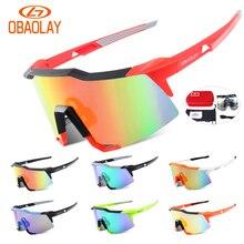 Obaolay Brand New 2 Lens Polarized Outdoor Sports Cycling Glasses UV400 Men Women Bike Bicycle Eyewear Mtb Goggles Sunglasses