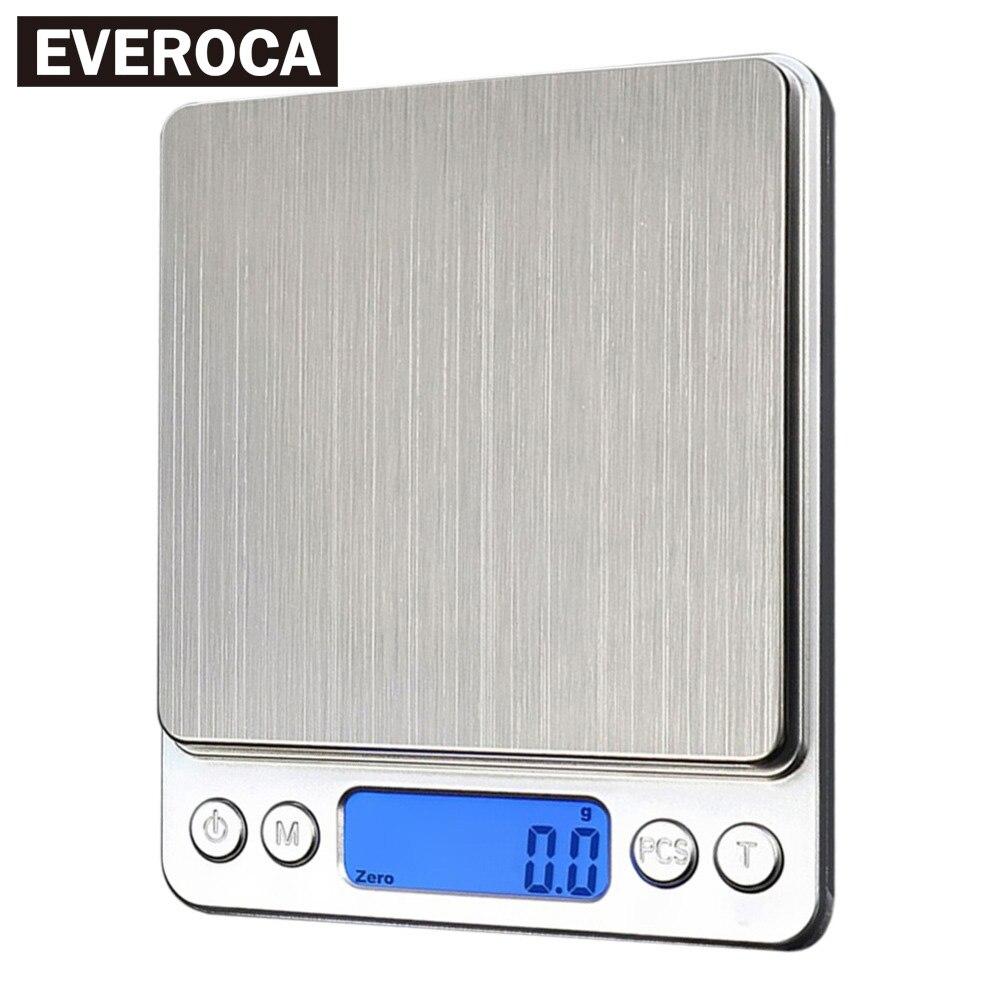 Digitale küche Waagen 1000g/0,1g Tragbare Elektronische Waagen Tasche LCD Präzision Waage Schmuck Gewicht Balance Küche