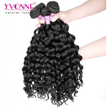 4Pcs/lot Italian Curly Malaysian Hair,100% Unprocessed Virgin Hair Weave,12-28 Inches Aliexpress Yvonne Hair,Color 1B