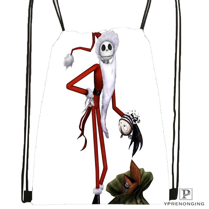 Custom Jack Skellington Lord Drawstring Backpack Bag Cute Daypack Kids Satchel (Black Back) 31x40cm#180531-03-32
