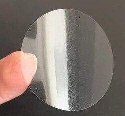100 шт. 2,5 см пустая круглая квадратная ПВХ специальная печать прозрачная этикетка овальная этикетка цветная печатная коробка наклейка на ка...