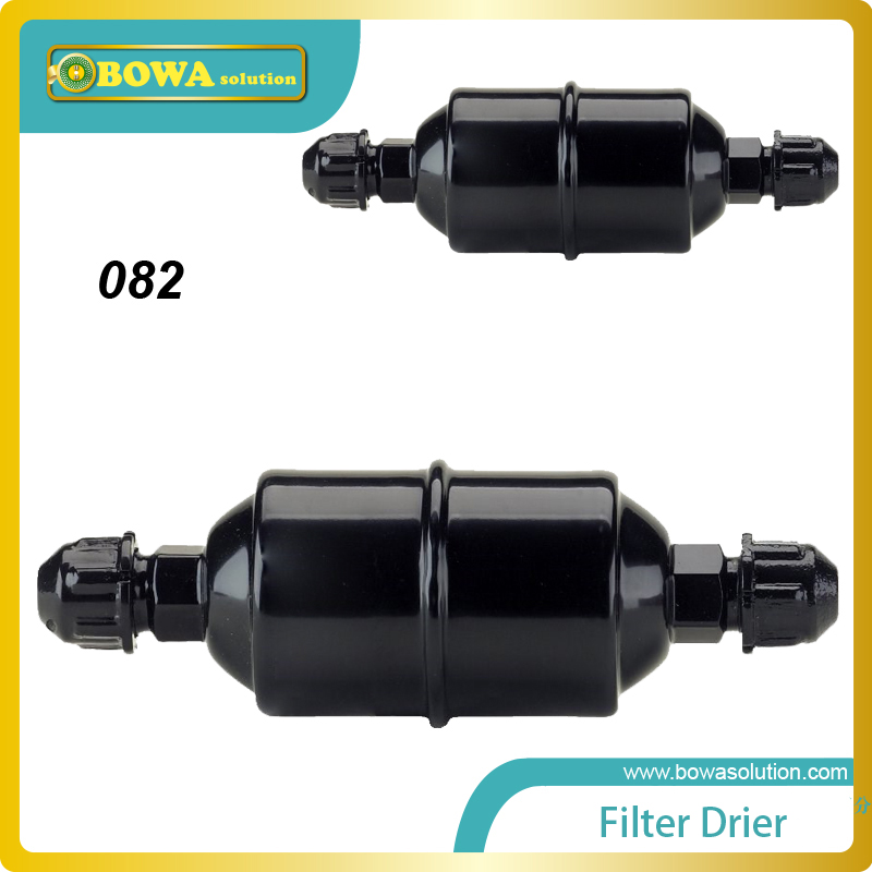 EC-082  refrigeration filter drier with 1/4 SAE  flare connection  for constant temperature equipment. high quality quick 1 4 sae flare connector for refrigeration charging or discharging