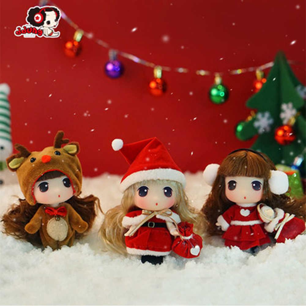 Ddung دمية حقيقية الكورية مخصص لعبة الأميرة دمى BJD مصغرة الفتيات هدية عيد ميلاد مفتاح المعلقات عيد الميلاد الديكور 9 سنتيمتر