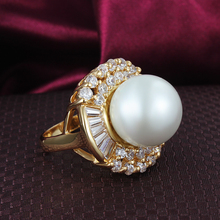 Pearl Rings for women setting CZ