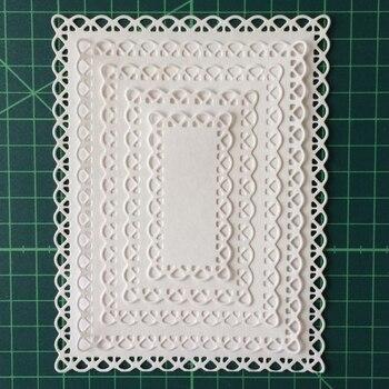 Набор из 5 предметов, прямоугольная рамка для скрапбукинга, сделай сам, фотоальбом, декоративная трафарет, новинка 2019