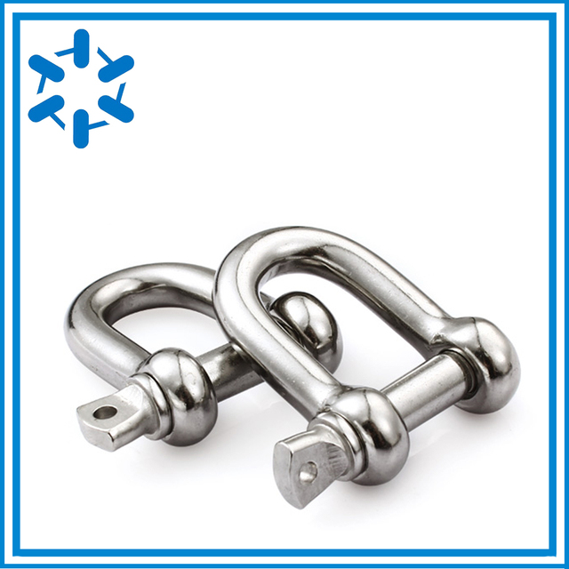 US $6 72 |10pcs/lot Stainless steel U bolts type D shackle M4 M5 M6 M8 M10  Type u sling screw Rope screw-in Locks from Home Improvement on