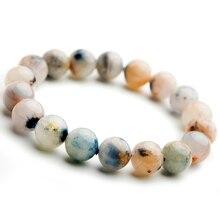 Натуральный Синий дамортиерит кварц рутилированный круглый кристалл для женщин и мужчин браслет 11 мм прозрачные бусины Камень Редкий Бразилия AAAA