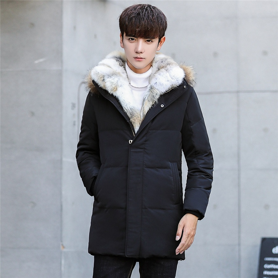 Winter Coat For Men 2017 Brand Man Thicken Warm Hooded Fur Collar Filling Big Fur Down Cotton Parka Male Fashion Long Clothing