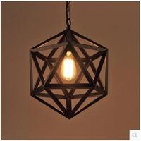 Modern Pendant Lights Kitchen Industrial Pendant lamp Loft E27 Edison Black Iron Cage white Lampshade Indoor Hang Lamp Lighting