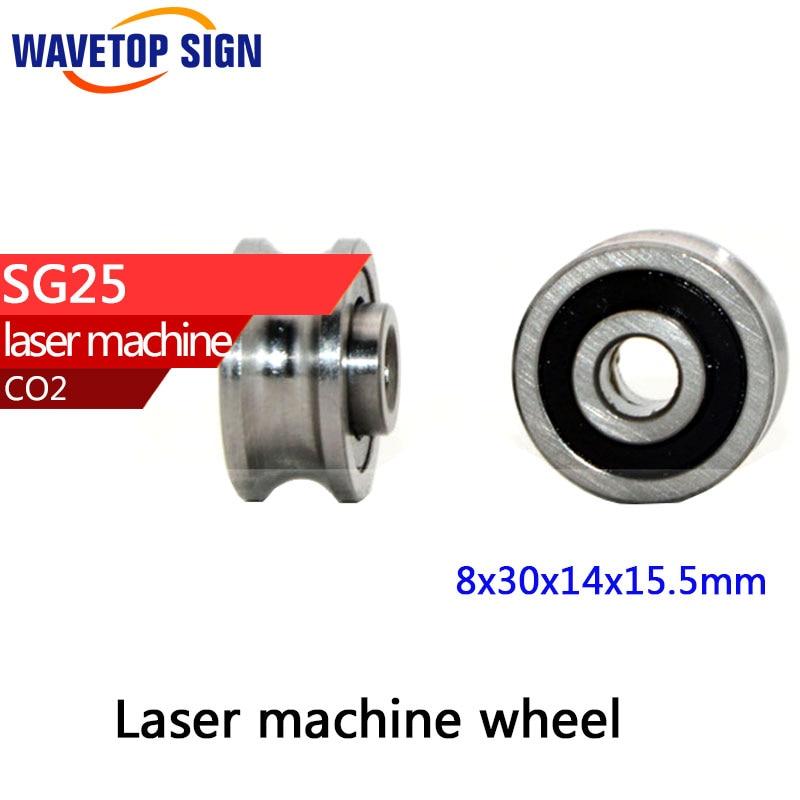 7 pcs Bearings 8x30x14x15.5mm Groove Ball Bearings SG25  for CO2 Laser Engraving Cutting Machine gcr15 6036 180x280x46mm high precision deep groove ball bearings abec 1 p0 1 pcs