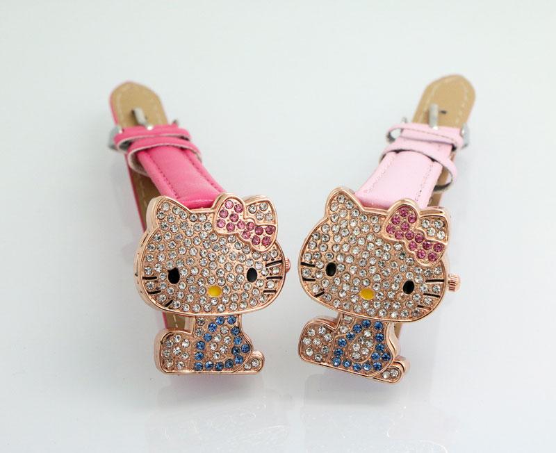 Yeni Gelmesi Güzel Hello Kitty İzle Çocuklar Kız Kadınlar Elbise - Çocuk Saatler - Fotoğraf 5