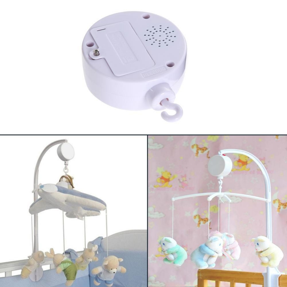 MrY Pure White Baby Toy 35 Songs  Rattles Bracket Set Cot Mobile Bell Crib Bed Toys Music Box