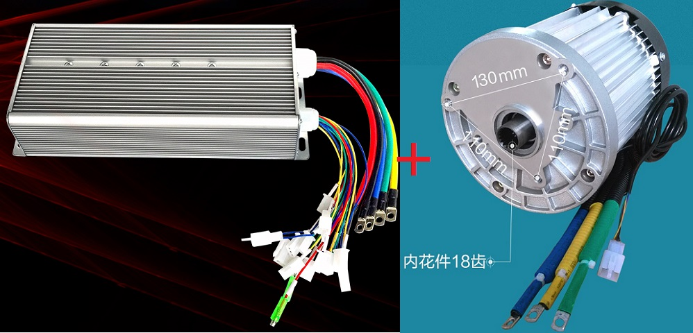 Fast Shipping 3000W 60V DC 36 mofset 1pc brushless motor + 1pc controller E-bike electric bicycle speed control fast shipping dc motor for treadmill model a17280m046 p n 243340 pn f 215392