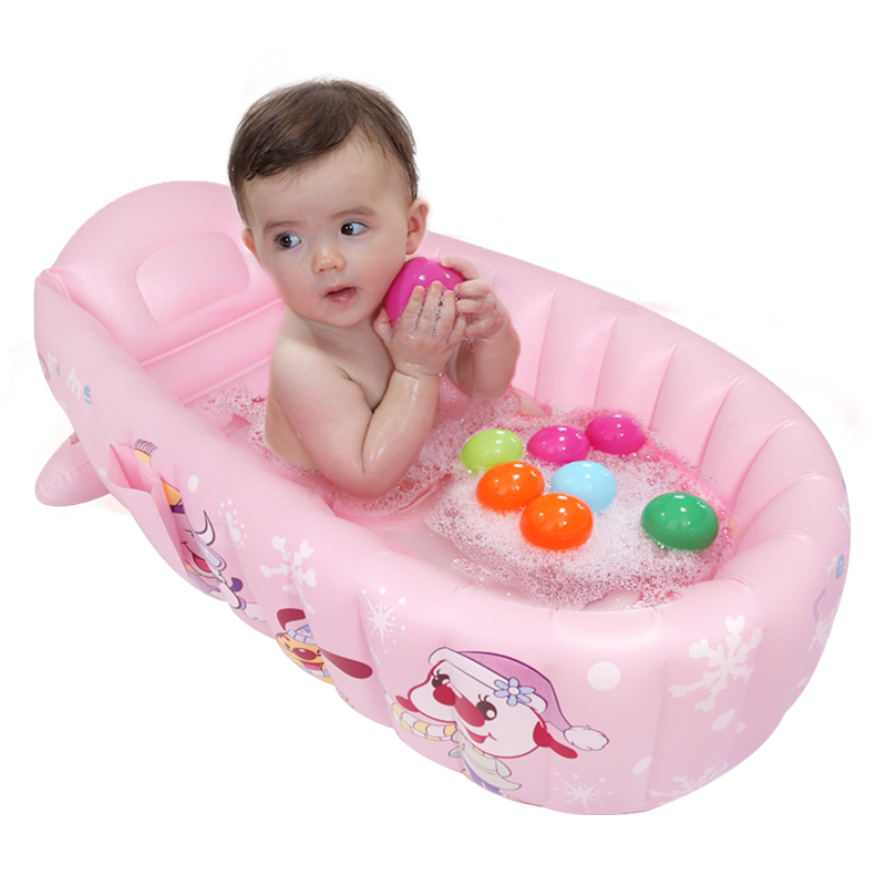 Large Inflatable Baby Bath Tubs Infant Toddler Water Playing Game Swimming Pool Folding Eco-friendly PVC Pools thickened swimming pool folding eco friendly pvc transparent infant swimming pool children s playing game pool