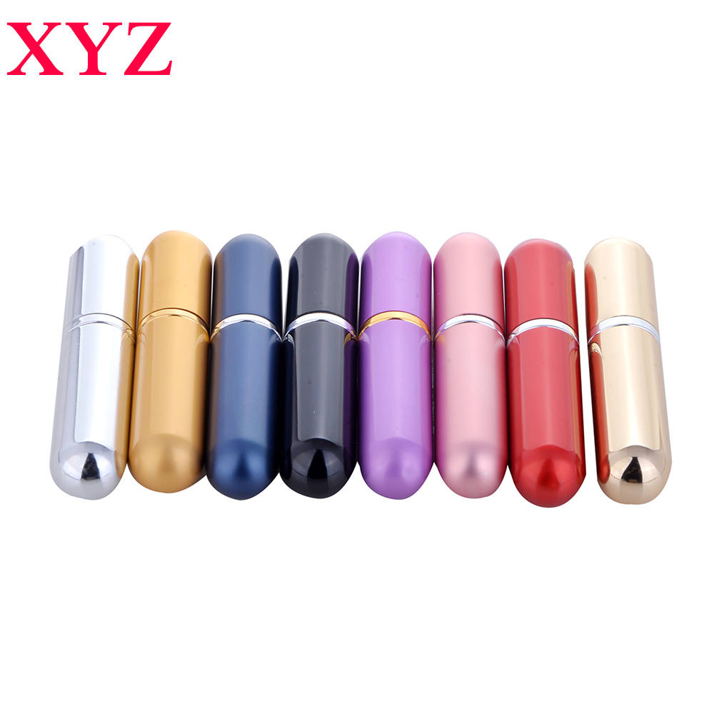 10colors 1pieces 5ml Refillable Portable Mini perfume bottle&Traveler Aluminum Spray Atomizer Empty Parfum Bottle Free Shipping