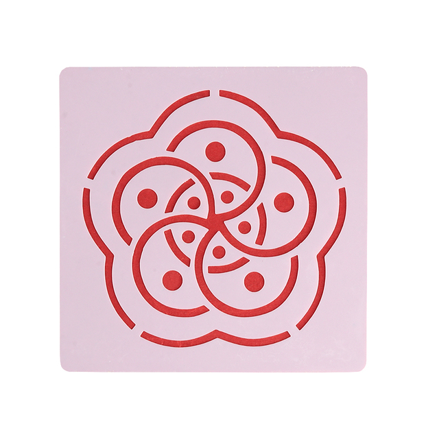 Geometric Flower Mandala Stencil for Painting and Dotting