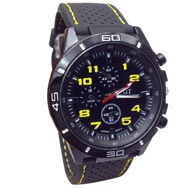 Vico 2018 Quartz Watch Men Business&Casual Military Watches Sport Wristwatch Silicone Fashion Hours reloj hombre