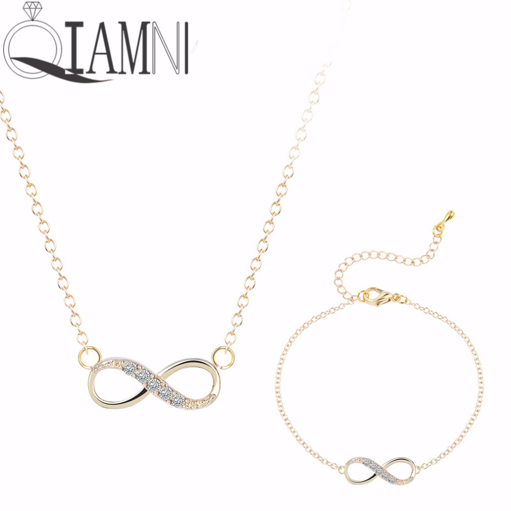 QIAMNI Jewelry Set Silver Plated with Rhinestone Pattern Necklace and Bracelet Bangle Vintage Jewelry Sets for Women Gift