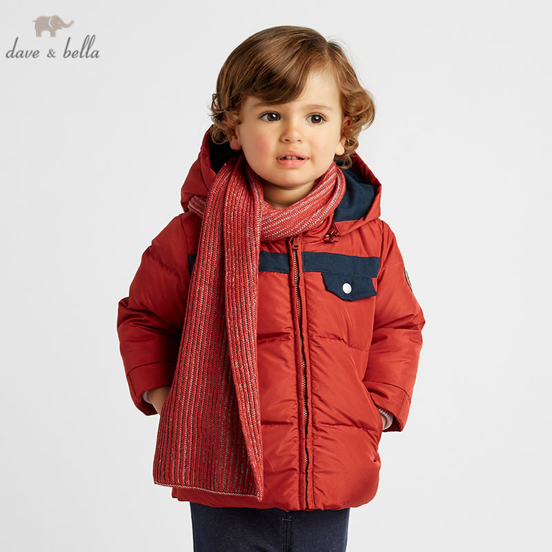 DB8856 dave bella winter baby boys down jacket children white duck down padded coat kids hooded outerwear with wool scarfDB8856 dave bella winter baby boys down jacket children white duck down padded coat kids hooded outerwear with wool scarf
