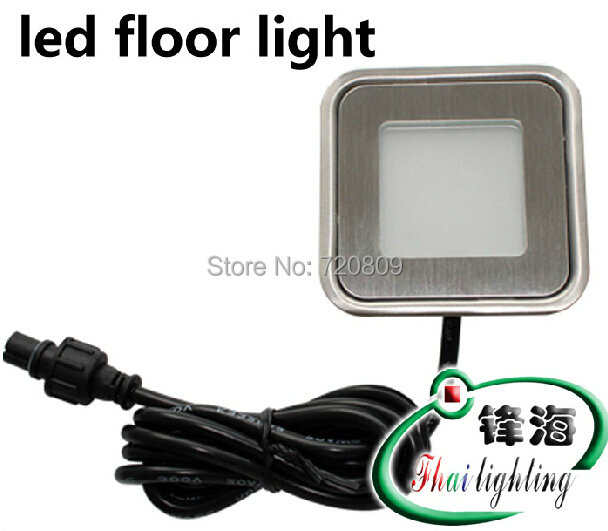 cheap 10pcs/lot Free Shpping DC12v Ultrathin LED Floor Lamp Recessed Step Light Outdoor Garden Inground Stair Lighting Square pic,image LED lamps deals