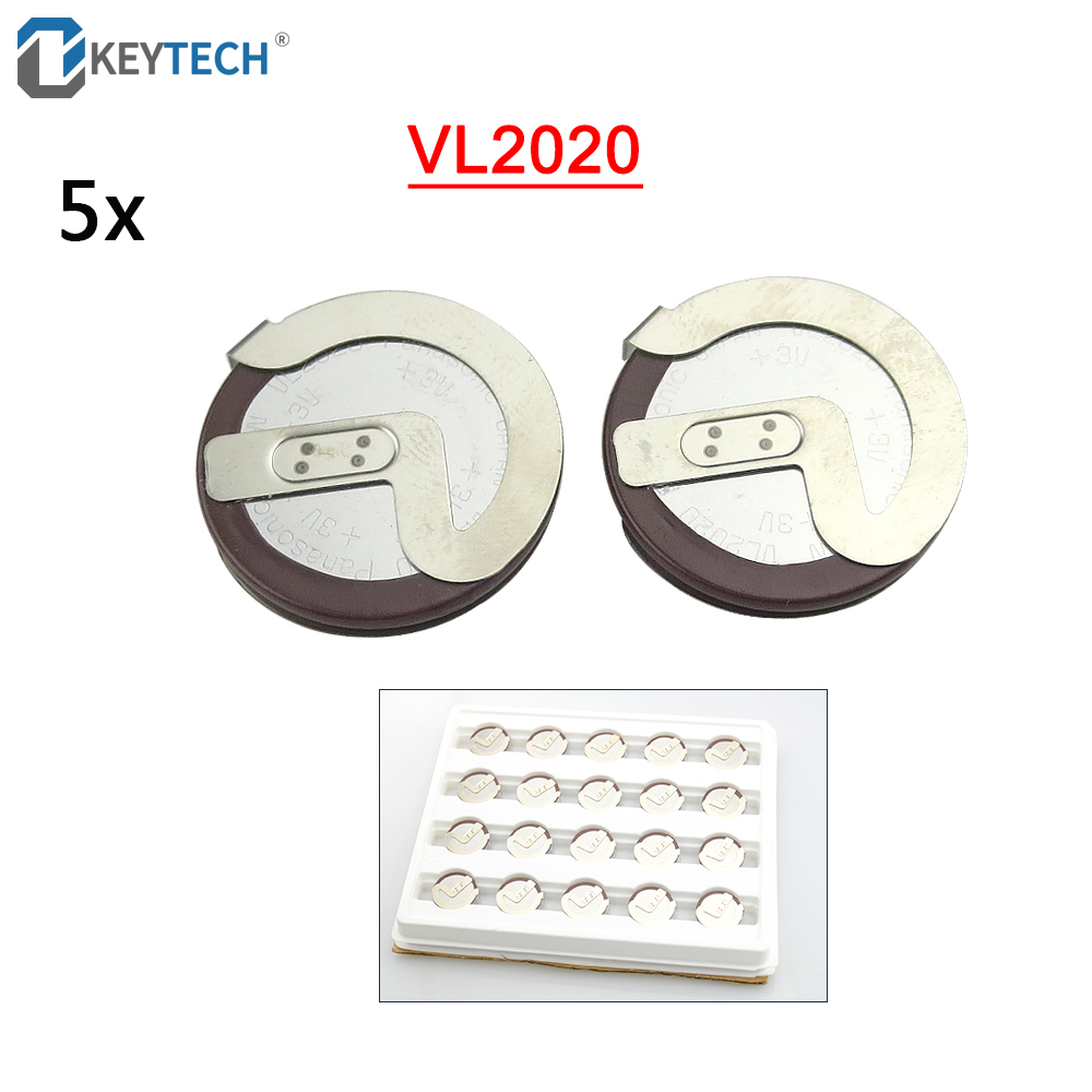 OkeyTech 5PCS LOT Original ML2020 2020 90 Degrees Pins Replace VL2020 Rechargeable Battery for Car Key