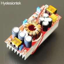 цена на New 1800W 40A CC CV Boost Converter DC-DC Step Up adjustable Power Supply Module DC 10V-60V TO 12V -90V electric booster