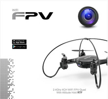 0.3MP HD Camera 2.4Ghz 4CH WIFI FPV RC Quadcopter Drone With Altitude Hold Dron 6-axis Gyro Helicopter Mini-Drone FY603 VS H37
