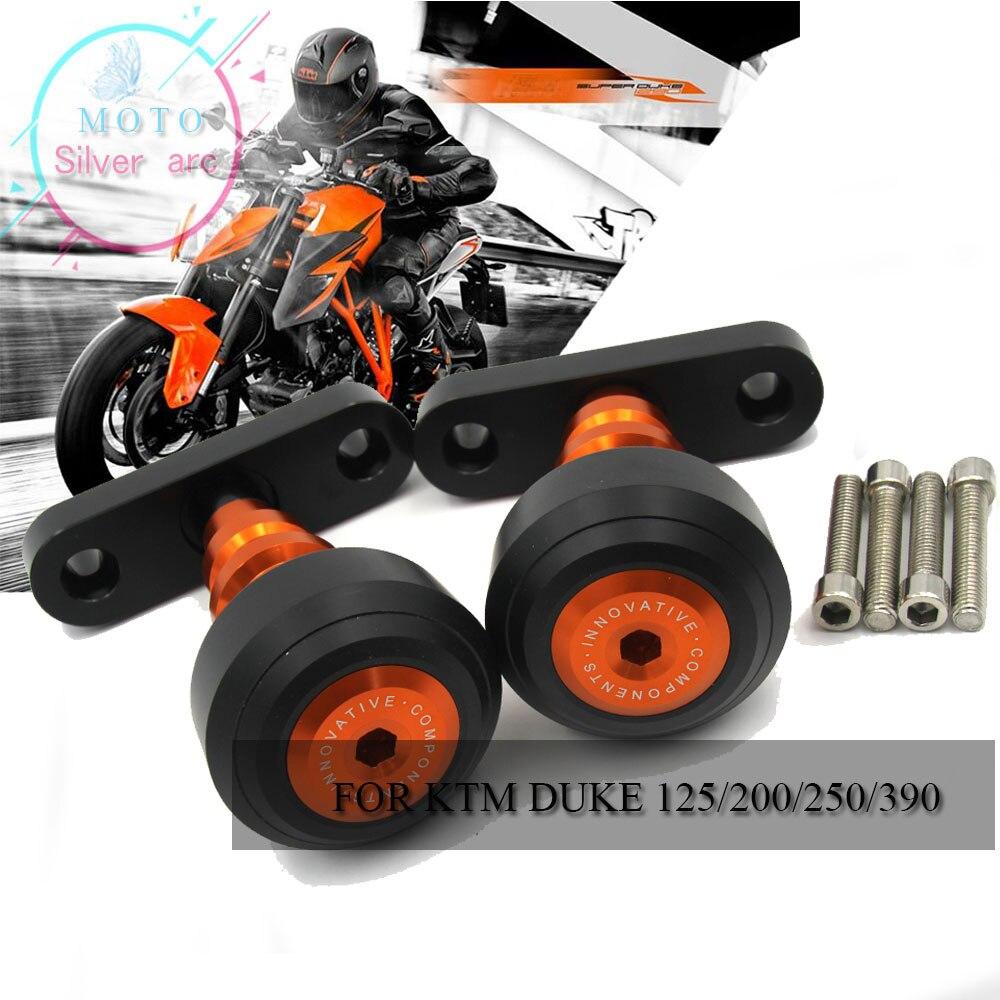 New Motorcycle CNC Orange Frame Slider Anti Crash Protector For KTM DUKE 125 200 390 2013 2014 2015 13 14 15 Motocicleta