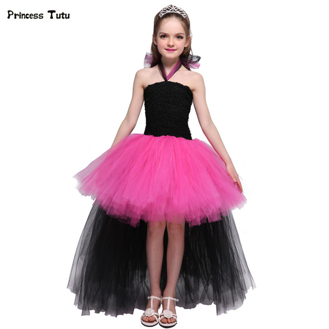 Rockstar Queen S Dress Train Fancy Tutu Christmas Cosplay Costume Kids Party Pageant Performance