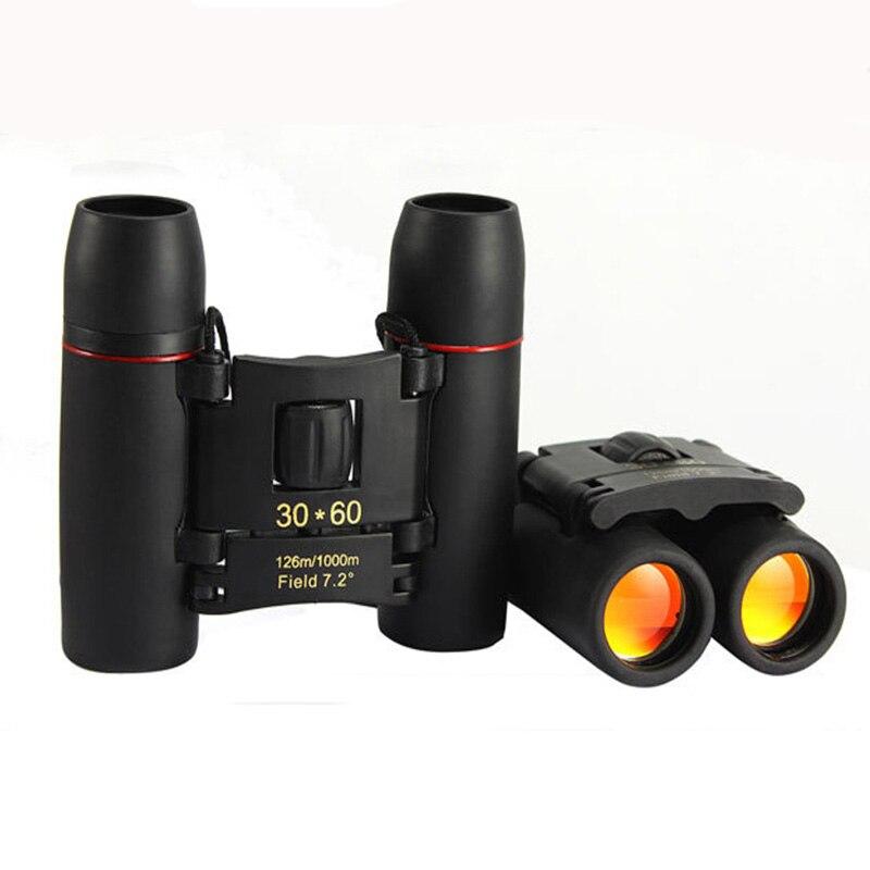 Telescópio Zoom 30x60 Folding Binóculos com Low Light Night Vision para observação de aves ao ar livre viajar caça camping
