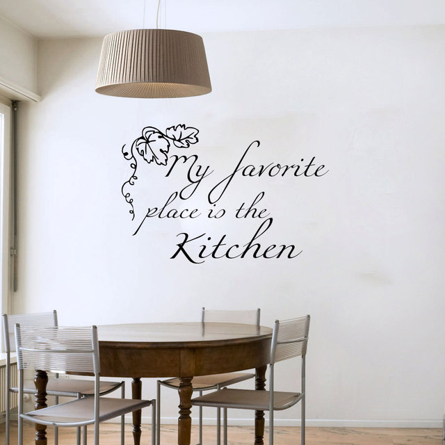 My Favorite Place Is The Kitchen Grape Leaves Wall Decals Vinyl Removable Home Decor Wall Sticker & My Favorite Place Is The Kitchen Grape Leaves Wall Decals Vinyl ...