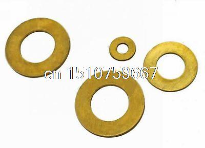 Lot 100 Standard Metric Brass Flat Thick Washers M5(ID)x 10(OD)x 0.8mm Thick