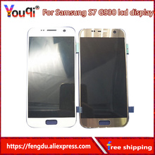 Youqi High Quality AMOLED LCD For Samsung GALAXY S7 G930 G930F G930A G930V G930P LCD Display+Touch Screen+Tapes+Tools