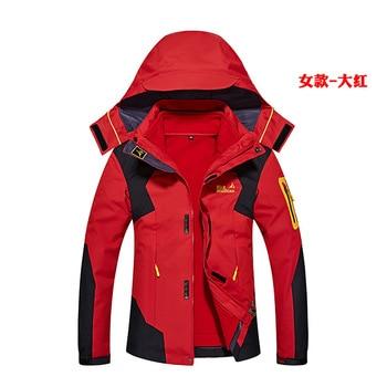 Women Men Winter Inside Fleece Softshell Jackets Outdoor Thermal Brand Clothing Waterproof Hiking Camping Female Skiing Coats