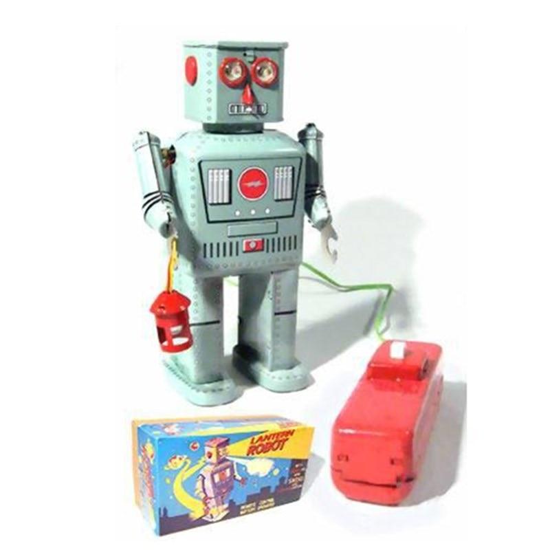 클래식 시계 태엽 로봇 틴 장난감 골동품 스타일 바람 장난감 로봇 철 금속 모델 성인 키즈 소장 선물-에서와인드업 장난감부터 완구 & 취미 의  그룹 1