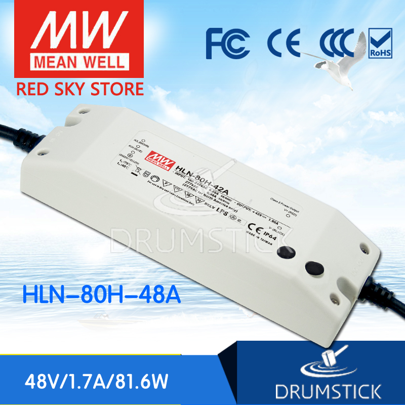 цена на hot-selling MEAN WELL HLN-80H-48A 48V 1.7A meanwell HLN-80H 48V 81.6W Single Output LED Driver Power Supply A type