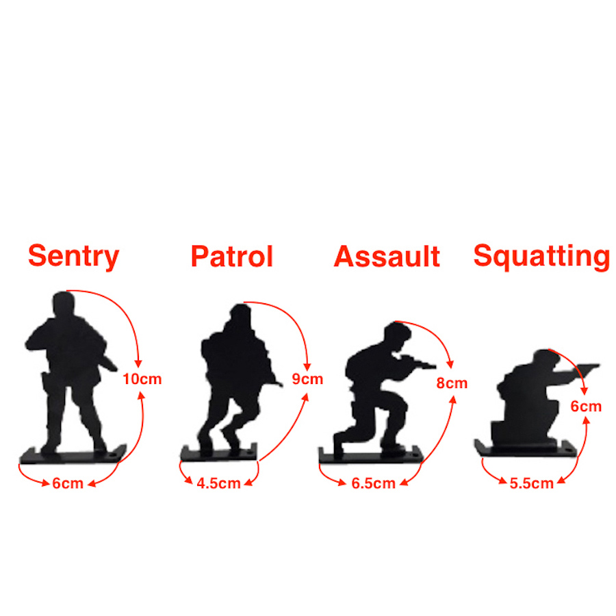 Soldiers Decorations Shooting Small Targets Sentry, Patrol, Assault and Squatting For Airsoft, Paintball, Slingshot Shooting