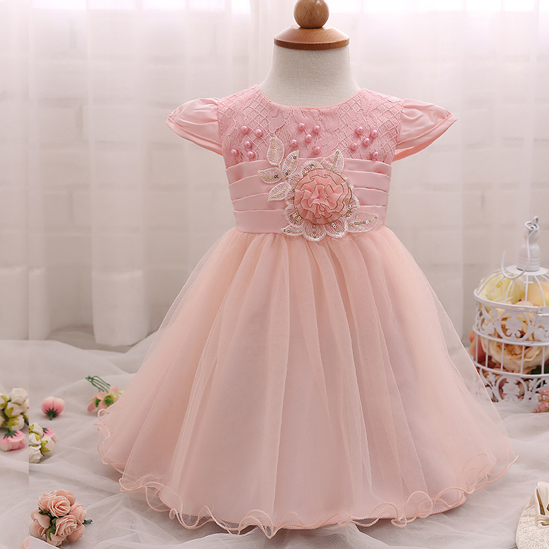 Baby Girl Dress Christening Baptism Gowns Party Special Occasion Dress with Hat